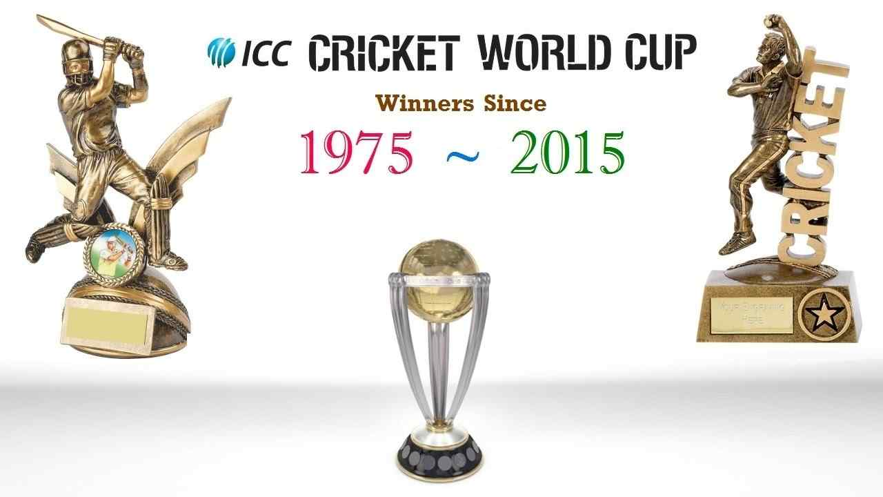 ICC Cricket World Cup Winners of All Time