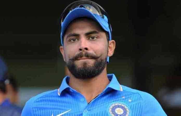 Ravindra Jadeja - Indian cricketer with mustache